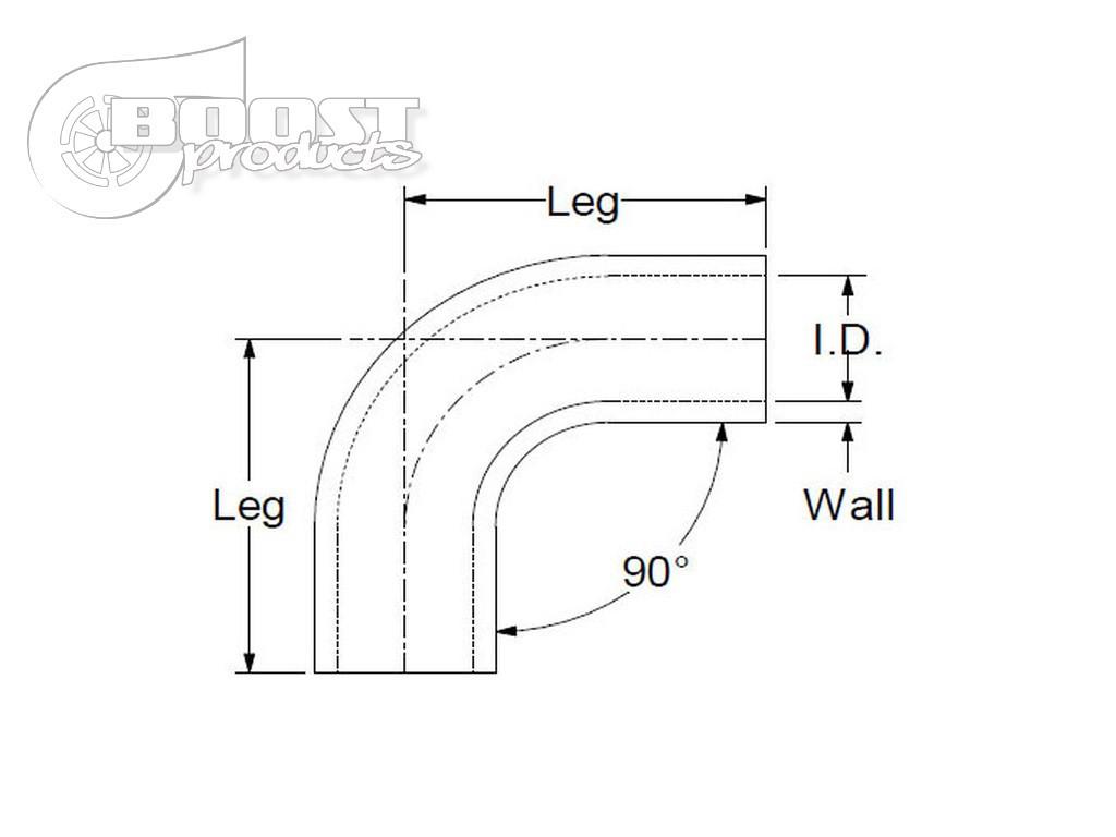 BOOST products Silikonbogen 90°, 19mm, schwarz